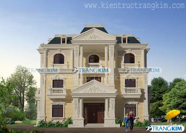 Thiết kế kiến trúcbiệt thự cổđiển 2