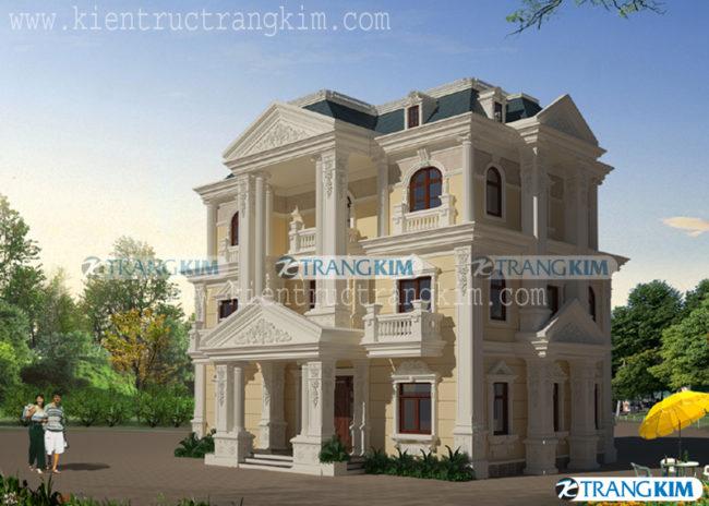 Thiết kế kiến trúcbiệt thự cổđiển 3