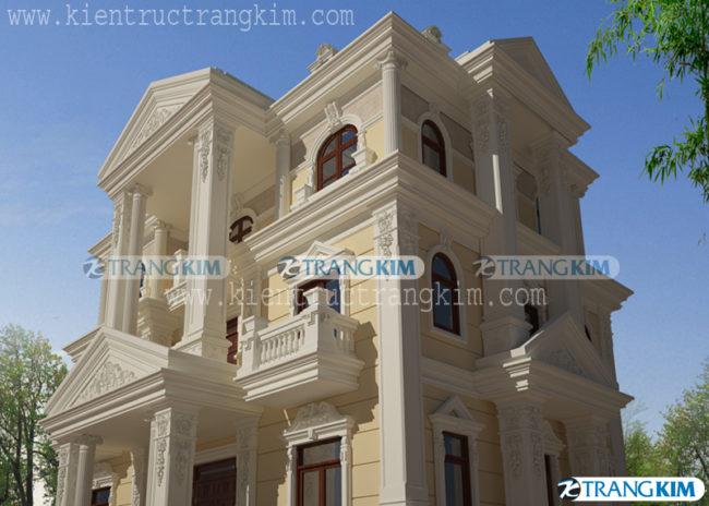Thiết kế kiến trúcbiệt thự cổđiển 4