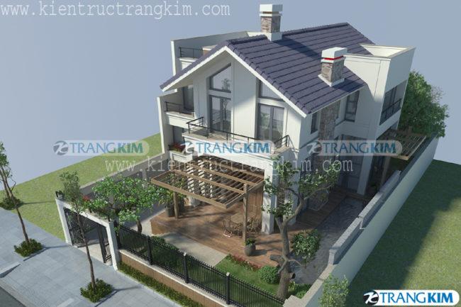 3.Thiết kế biệt thự hiện đại 4