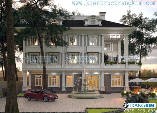 Thông tinthiết kếkiến trúc khách sạn mini tân cổ điển - Bắc Ninh 1