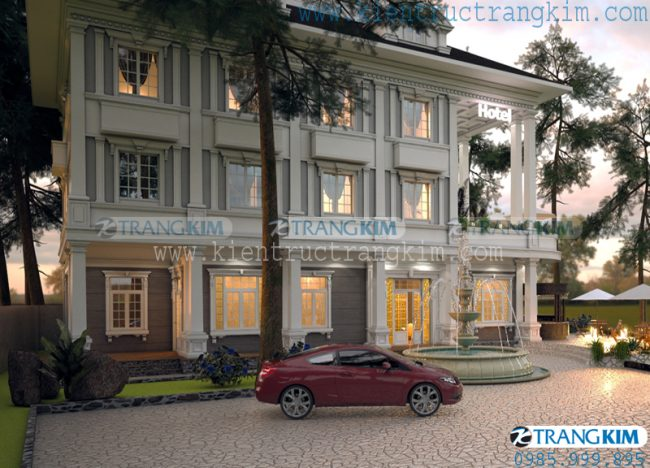 Thông tinthiết kếkiến trúc khách sạn mini tân cổ điển - Bắc Ninh 2