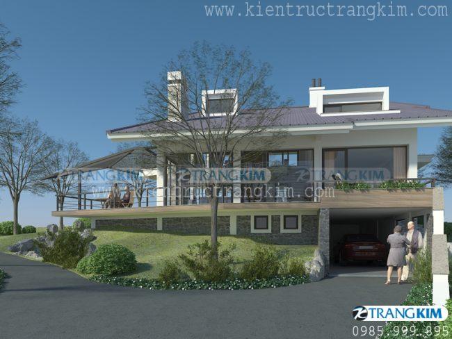 Hình ảnh thiết kế kiến trúc biệt thự nghỉ dưỡng hiện đại 2 tầng tại Ba Vì - Hà Nội 5