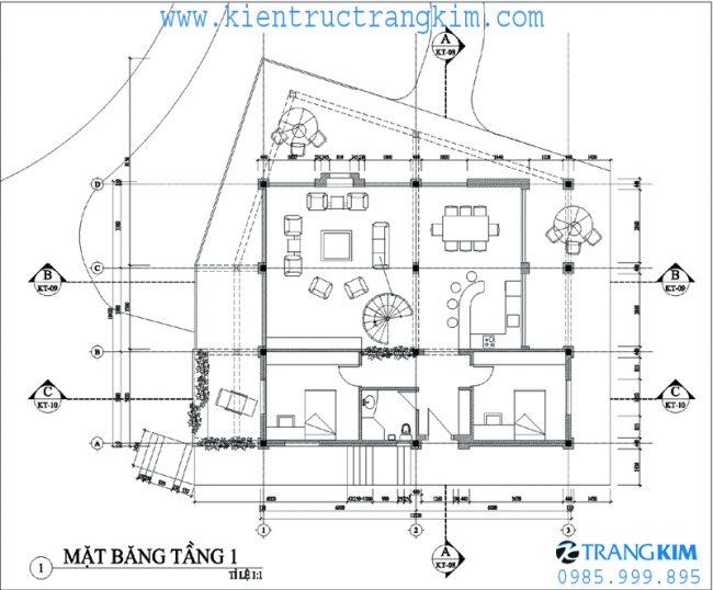Phương án bố trí mặt băng thiết kế biệt thự nghỉ dưỡng hiện đại 2 tầng tại Ba Vì - Hà Nội 3