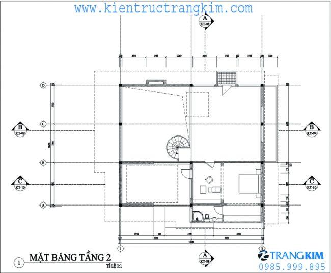 Phương án bố trí mặt băng thiết kế biệt thự nghỉ dưỡng hiện đại 2 tầng tại Ba Vì - Hà Nội 4