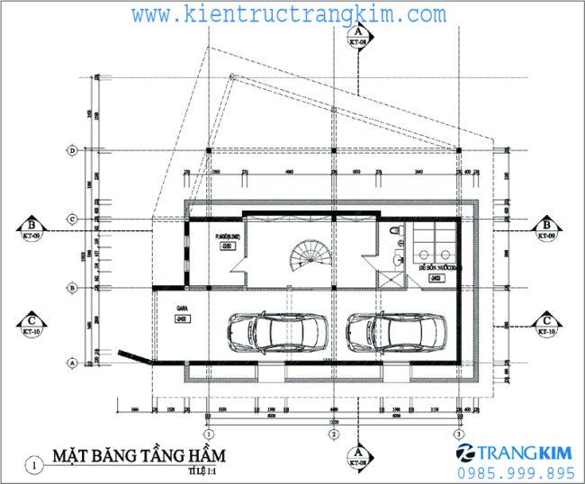 Phương án bố trí mặt băng thiết kế biệt thự nghỉ dưỡng hiện đại 2 tầng tại Ba Vì - Hà Nội 2