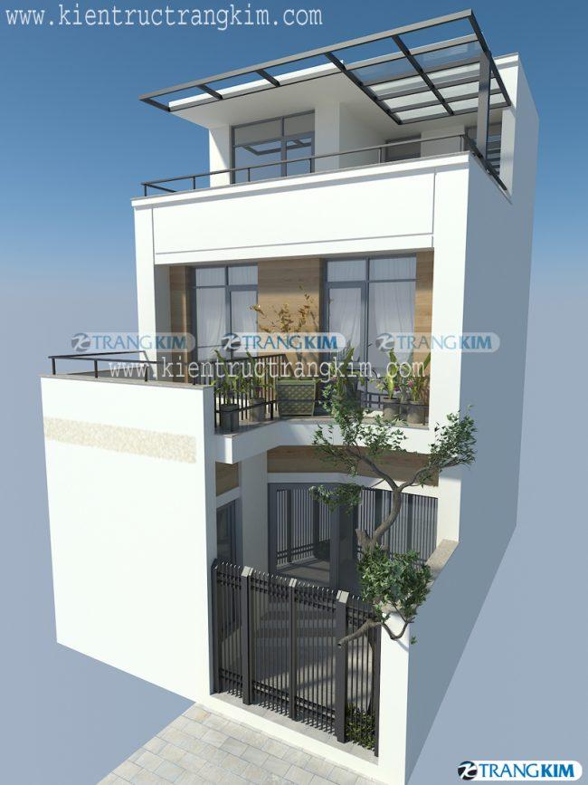 Thiết kế kiến trúc nhà ở 3 tầng tại Khâm Thiên - Hà Nội 1