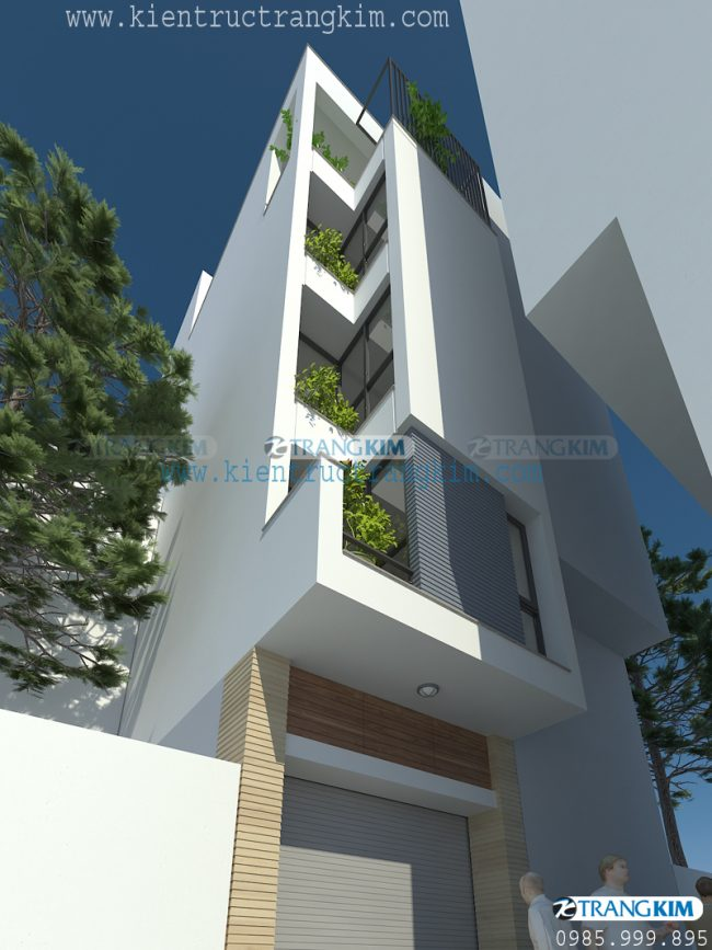Thông tin về thiết kế nhà ống 5 tầng 1 tum mặt tiền 3.5m tại Hà Nội 1