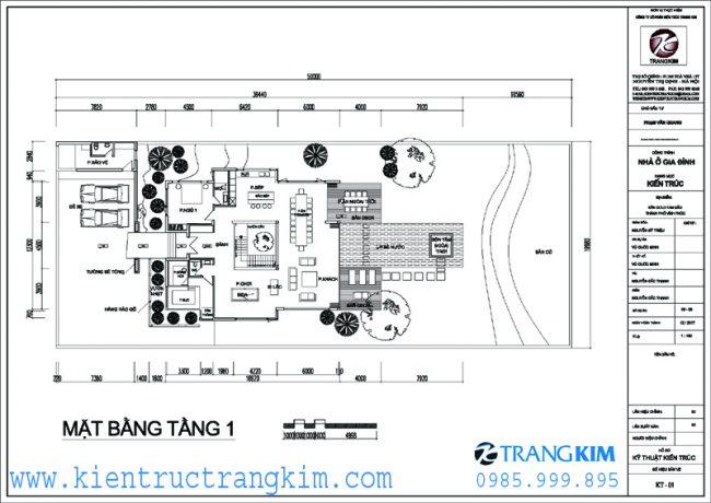Mặt bằng thiết kế biệt thự nghỉ dưỡng hiện đại 2 tầng mái 1