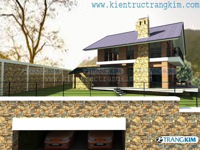Hình ảnh phối cảnh thiết kế biệt thự vườn mini hiện đại 1