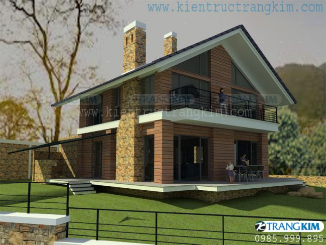 Hình ảnh phối cảnh thiết kế biệt thự vườn mini hiện đại 9