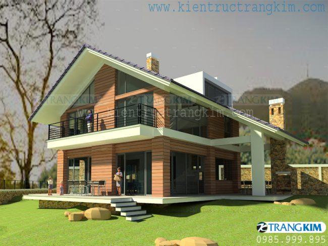 Hình ảnh phối cảnh thiết kế biệt thự vườn mini hiện đại 2