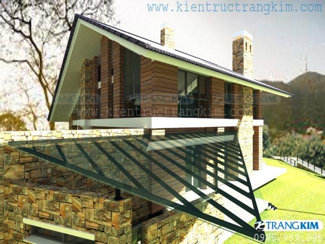 Hình ảnh phối cảnh thiết kế biệt thự vườn mini hiện đại 3