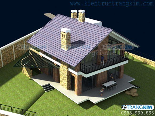 Hình ảnh phối cảnh thiết kế biệt thự vườn mini hiện đại 5