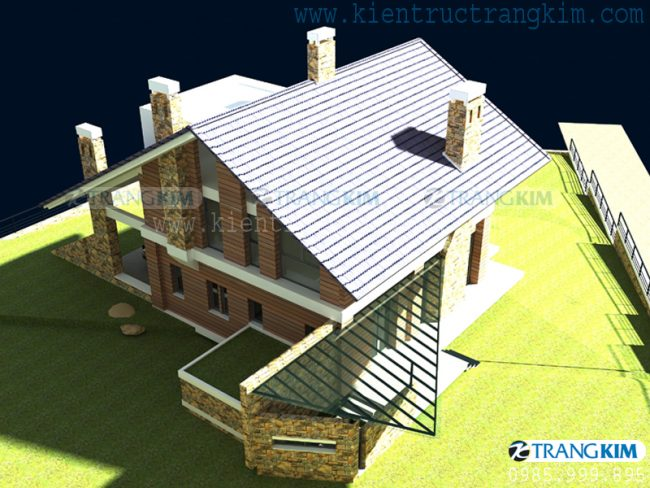 Hình ảnh phối cảnh thiết kế biệt thự vườn mini hiện đại 6