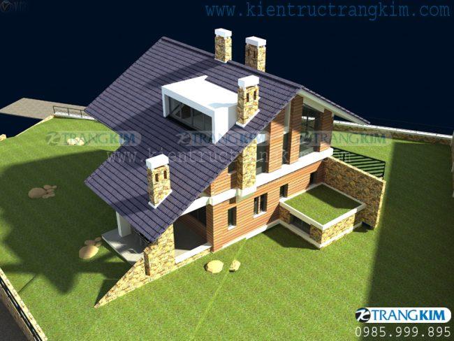 Hình ảnh phối cảnh thiết kế biệt thự vườn mini hiện đại 7