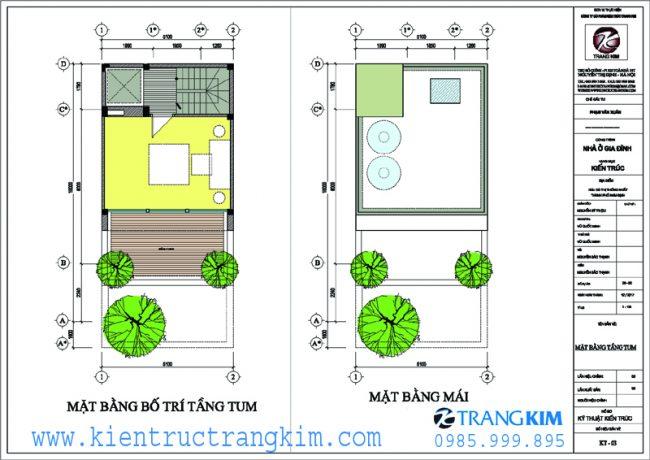 Mặt bằng công năng thiết kế nhà ống 5m hướng tây 3