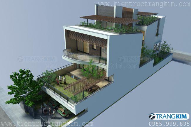 Mẫu biệt thự phố hiện đại tại Hưng Yên 2