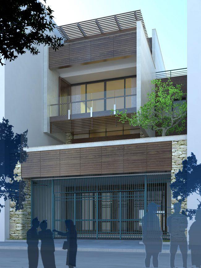 Mẫu biệt thự phố hiện đại tại Hà Nam 1