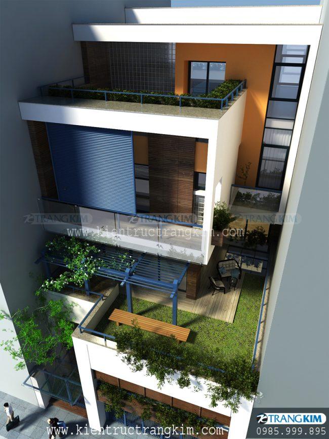 Thông tin về căn biệt thự phố hiện đại 4 tầng 1 tum 1