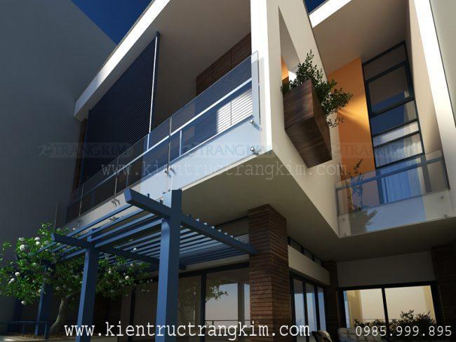 Phối cảnh biệt thự phố hiện đại 4 tầng 1 tum 4