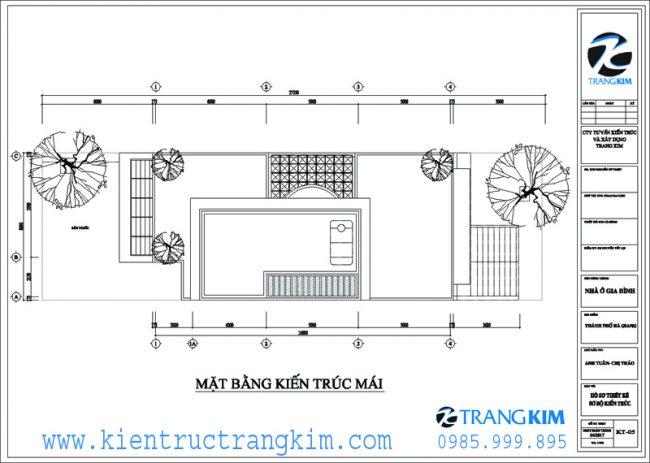 Mặt bằng kiến trúc mái 1