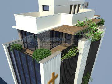 Thiết kế nhà ở kết hợp phòng khám