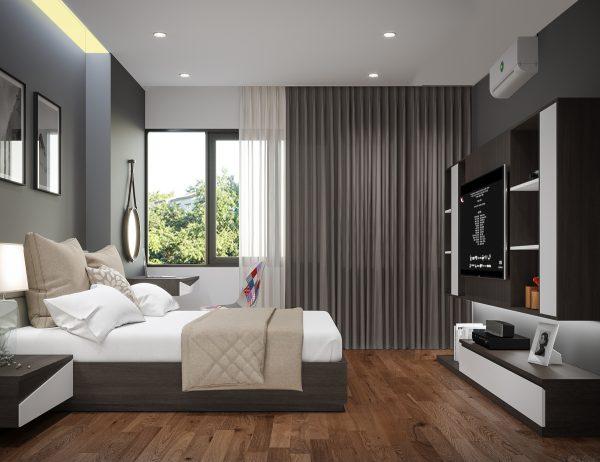 Hình ảnh nội thất nhà nghỉ trên mảnh đất 8x20m 6