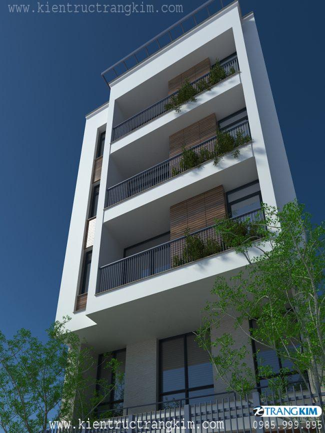 Phối cảnh thiết kế nhà cho thuê trên đất hình bình hành 1