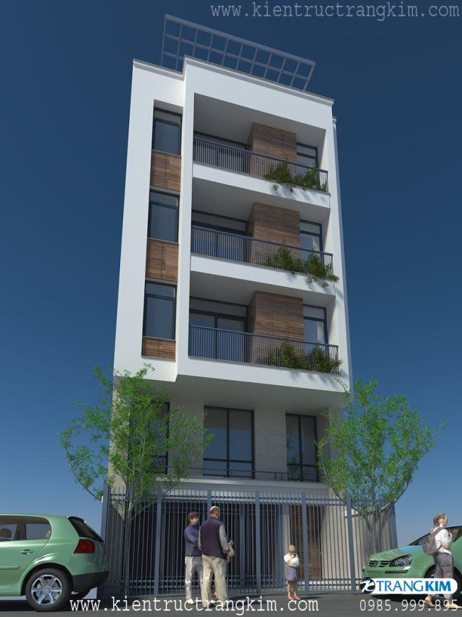Phối cảnh thiết kế nhà cho thuê trên đất hình bình hành 2