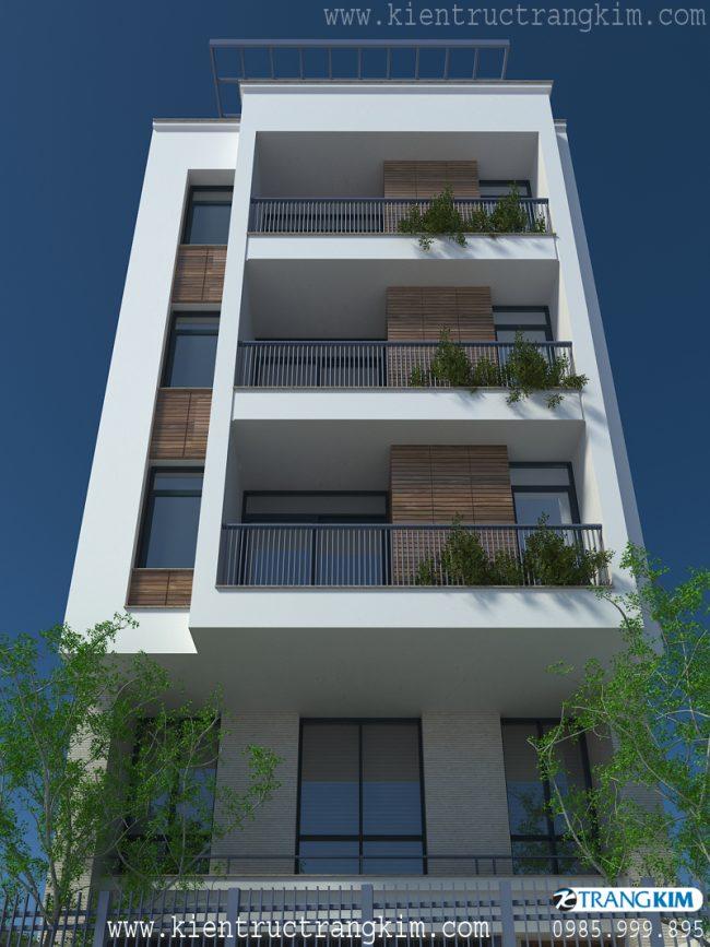 Phối cảnh thiết kế nhà cho thuê trên đất hình bình hành 3