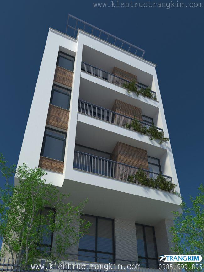 Phối cảnh thiết kế nhà cho thuê trên đất hình bình hành 4